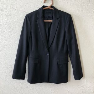 Tahari Tailored Longline Wool Blazer 8